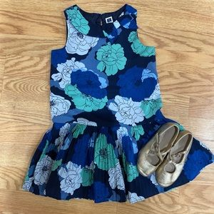 Janie and Jack Floral Blue Teal Cute Dress Size 4